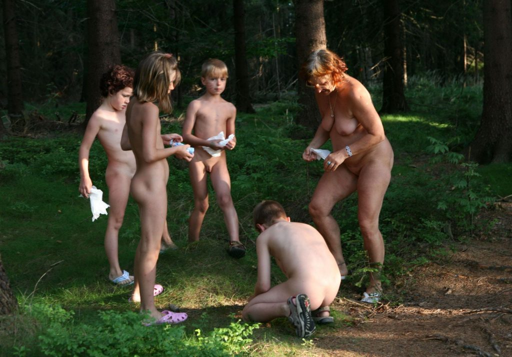 Nudist forest