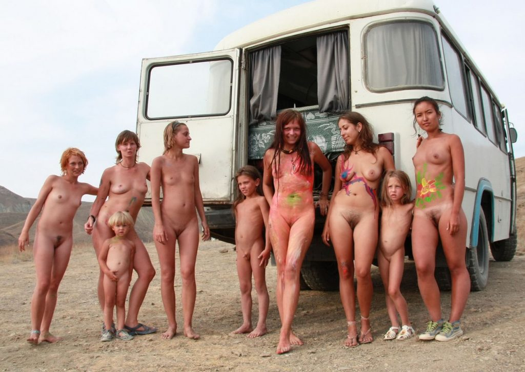 village nude family in