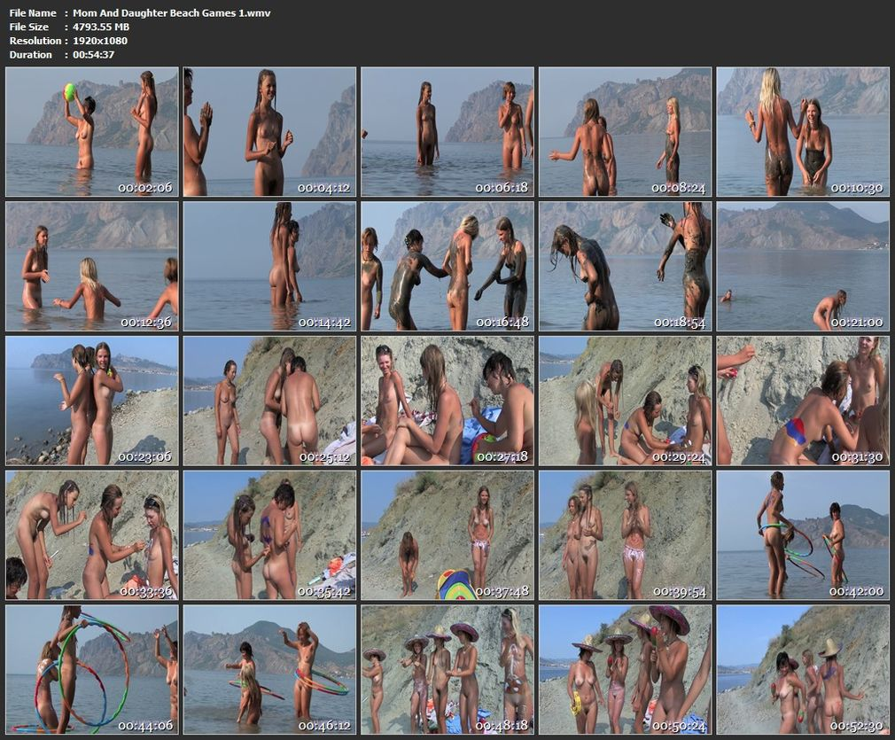 Mom And Daughter Beach Games 1