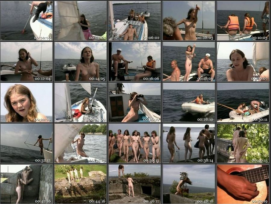 Russian Nudists A Day of Sailing